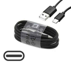 Genuine Fast 2A Charger Plug & 1M USB-C Cable For Samsung Galaxy M21 M31 M51 - Black