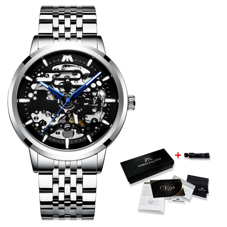 Stainless Steel Automatic Sport Mechanical Watch Luxury Watch