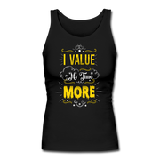 I Value My Time Women's Fitted Tank - black