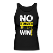 No Permission Women's Fitted Tank - black