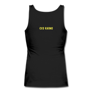 Time Waits Women's Fitted Tank - black