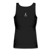 Women's Swallow Your Excuses Fitted Tank - black