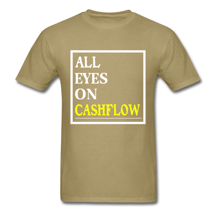 All Eyes On Cashflow T-Shirt - khaki