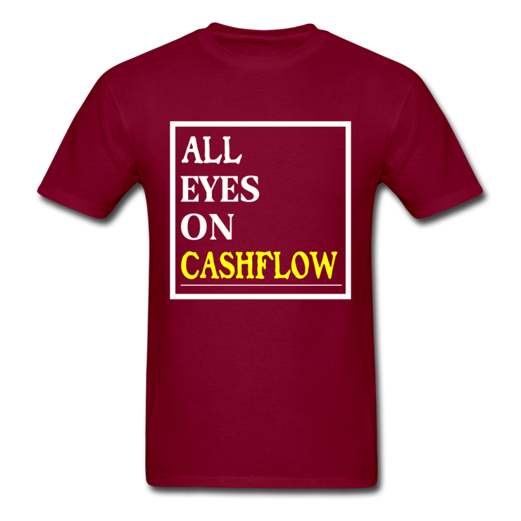 All Eyes On Cashflow T-Shirt - burgundy