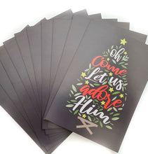 Load image into Gallery viewer, Christmas Postcard Pack - Let Us Adore Him