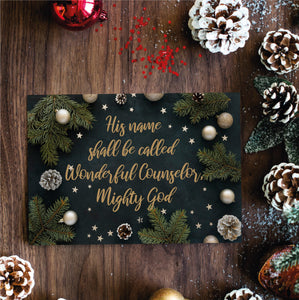Christmas Postcard Pack - Wonderful Counsellor