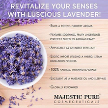 Load image into Gallery viewer, Majestic Pure Lavender Oil, Natural, Therapeutic Grade, Premium Quality Blend of Lavender Essential Oil, 4 fl. Oz
