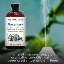 Load image into Gallery viewer, Majestic Pure Rosemary Essential Oil - Pure and Natural Aromatherapy Oil - Therapeutic Grade, 4 fl. oz.