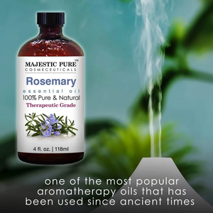 Majestic Pure Rosemary Essential Oil - Pure and Natural Aromatherapy Oil - Therapeutic Grade, 4 fl. oz.
