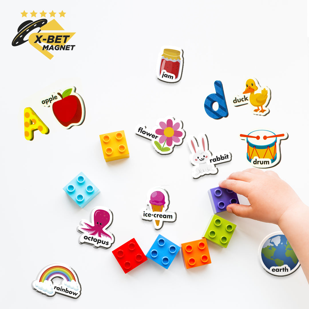 Foam Magnetic Letters and Figures