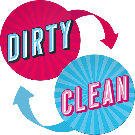 Clean Dirty Dishwasher Magnet - Funny Kitchen Gifts for Mom from Daughter and Son - Round Magnets