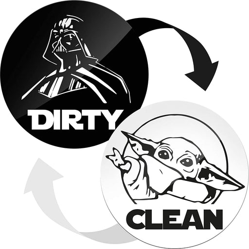Double Sided Clean Dirty Dishwasher Magnet - Dishwasher Magnet Clean Dirty Sign Indicator - Kitchen Magnet for Dish Washer