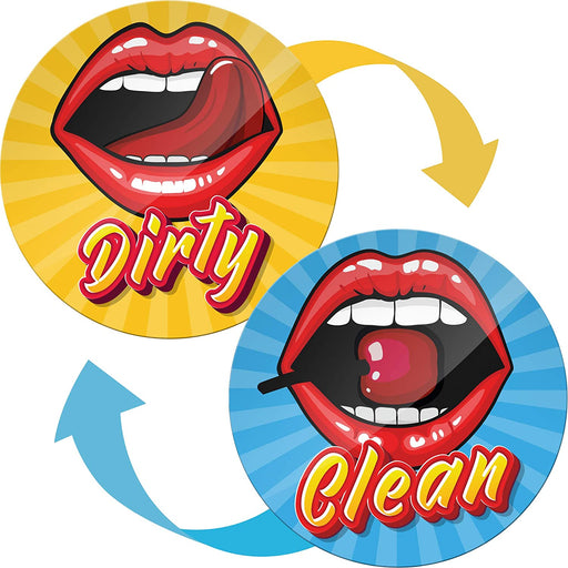 Clean Dirty Dishwasher Magnet Funny Lips - Housewarming Gifts New Home for Women and Men - Creative Gifts for Husband from Wife