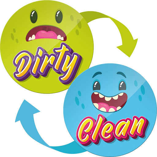 Dishwasher Magnet Clean Dirty Sign Funny - Funny Kitchen Magnet - Gifts for Mom and Dad from Son and Daughter