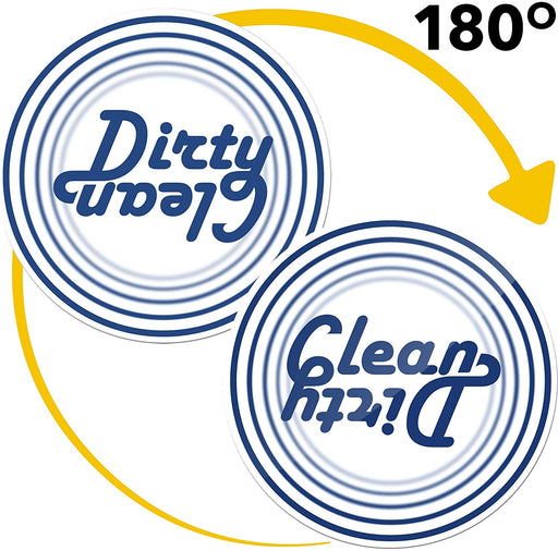 Dishwasher Magnet Clean Dirty Sign Indicator - Double Sided Flip - Kitchen Magnets - Magnet for Dishwasher