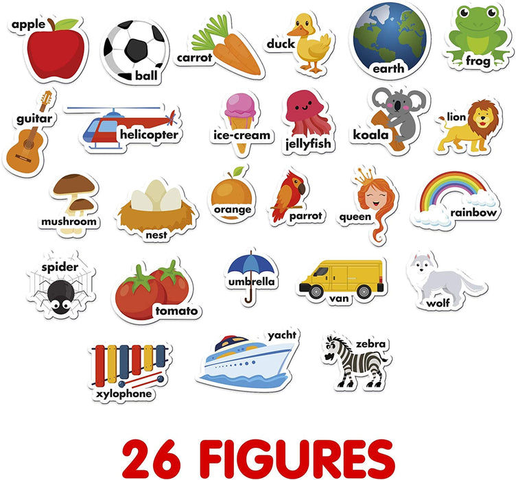 Foam Magnets for Toddlers - Refrigerator Magnets for Kid - Zoo, Farm and Animals Educational Toys - 26 PCs