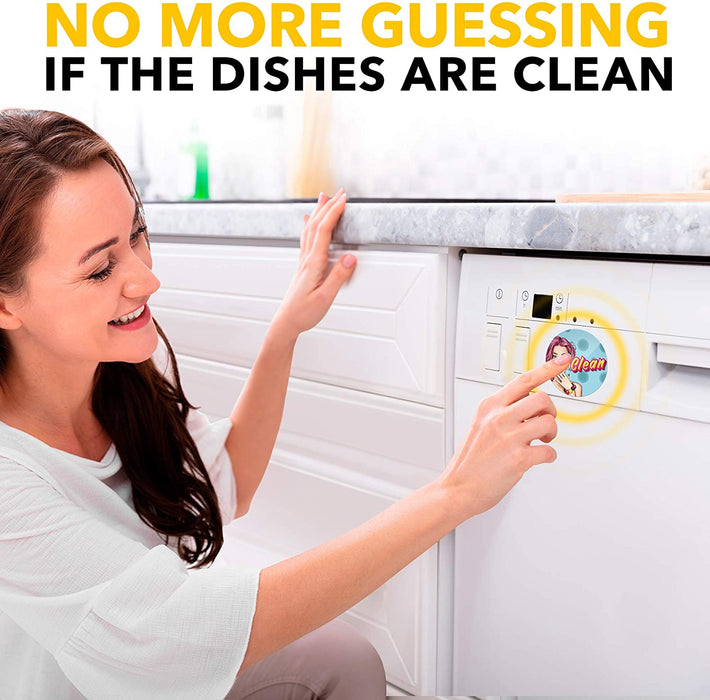 Dishwasher Magnet Clean Dirty Retro Pinup - Creative Gifts - Kitchen Magnet - Housewarming Gifts New Home
