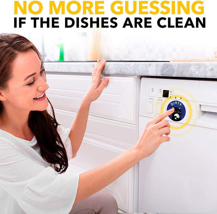 Clean Dirty Dishwasher Magnet Funny Cat - Dishwasher Magnet Clean Dirty Funny Flip - Kitchen Gift