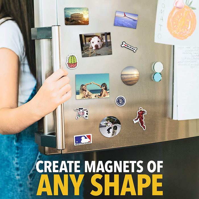 Printable Magnetic Sheets - Flexible Magnet Sheets Non Adhesive - Matte Printable Magnetic Paper - 5 PCs