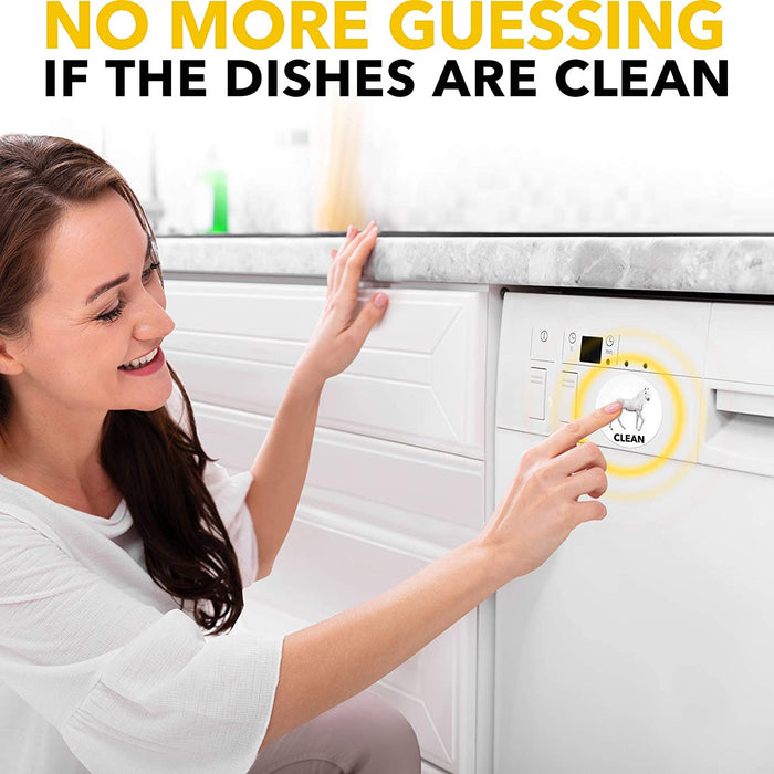 Clean Dirty Dishwasher Magnet Funny - Dishwasher Magnet Clean Dirty Sign Indicator - Double Sided Flip