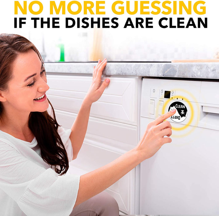 Clean Dirty Dishwasher Magnet Funny Cat - Great as Kitchen Gifts for Mom from Daughter or Son