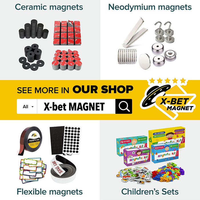 Magnet Strips with Adhesive Backing - Magnetic Tape Roll - Knife Magnetic Strip - Magnetic Tool Holder - 10 PCs