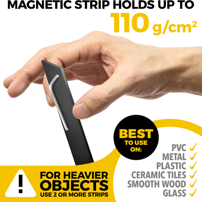 Magnetic Strips - Magnet Tool Holder - Knife Magnetic Strip - Wall Knife Holder - Tool Rack - Knives Bar - 5 PCs