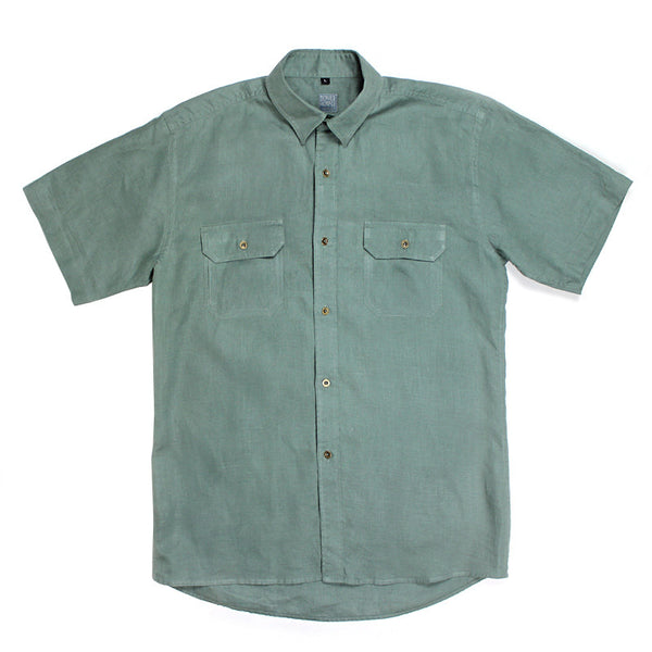 Hemp Short Sleeve Button Up