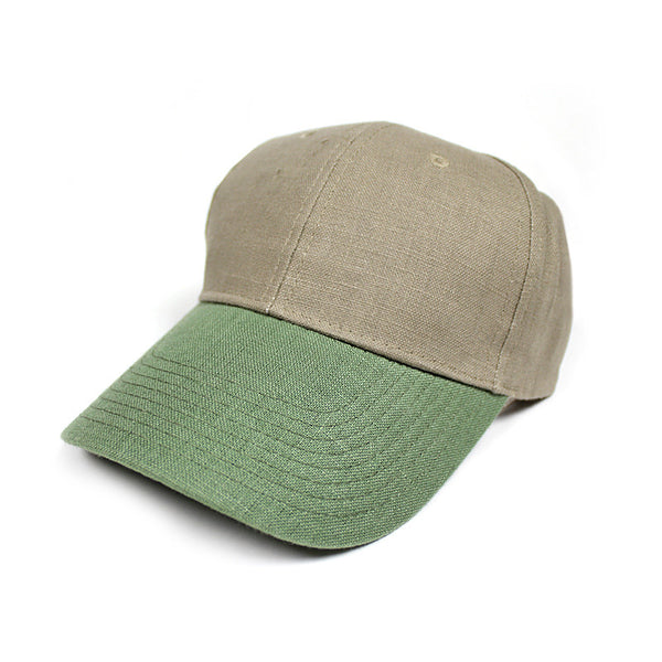 98% Hemp Ball Cap - Tan/Green
