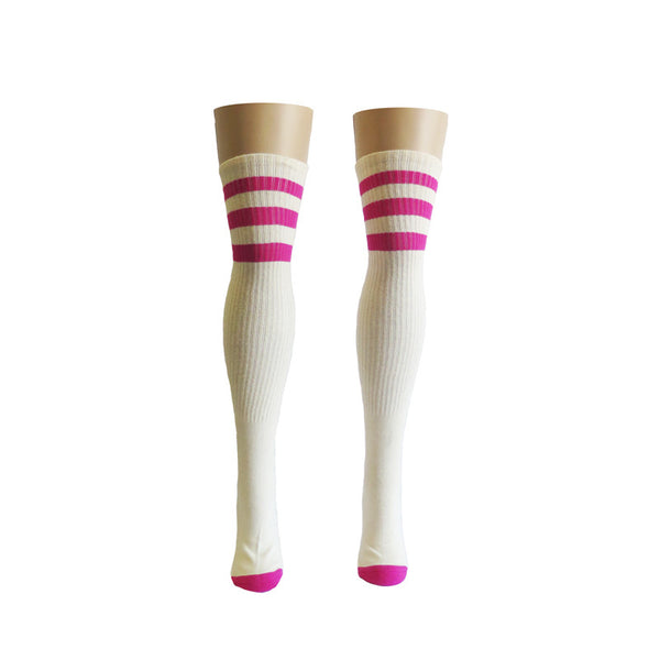 Hemp Socks Thigh High Pink