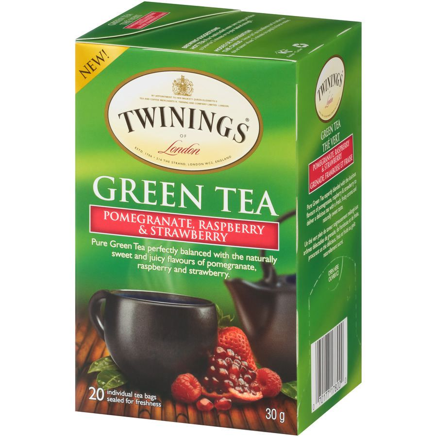 Twinings Green Tea Pomegranate, Raspberry & Strawberry Tea Bags