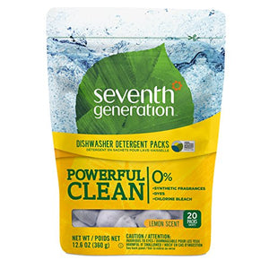 Seventh Generation Lemon Scent Dishwasher Packs