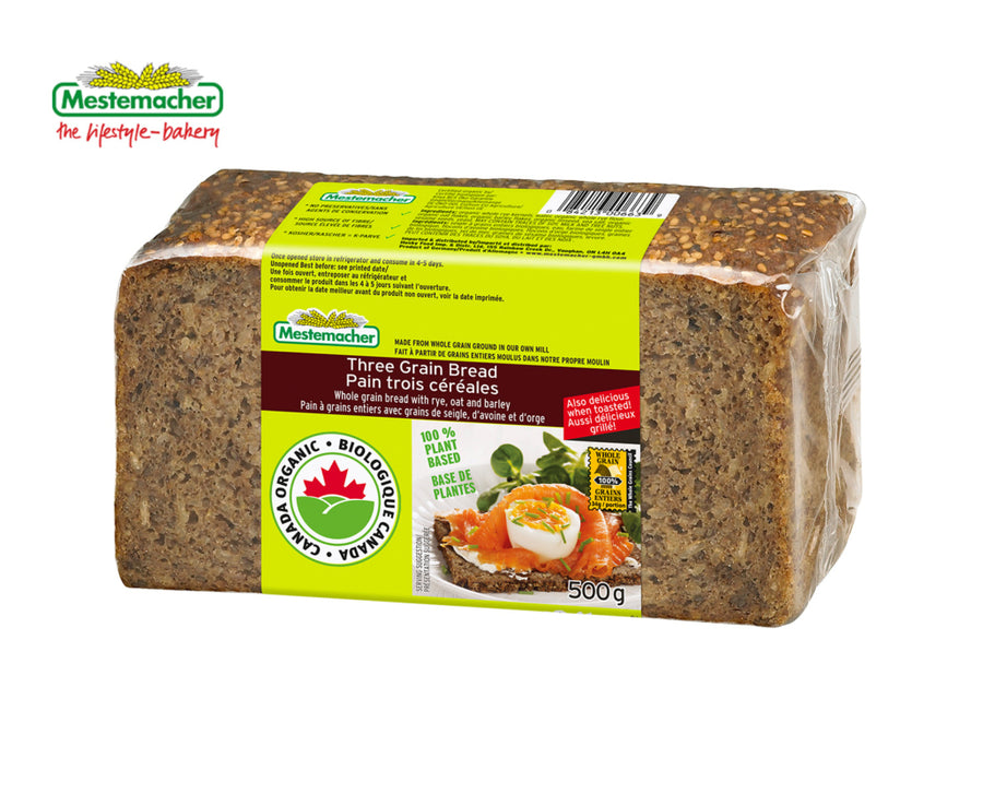 Mestemacher Organic Three Grain Bread
