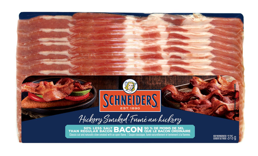 Schneiders 40% Less Salt Bacon