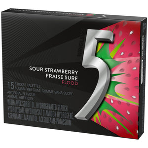 5 Gum, Sour Strawberry