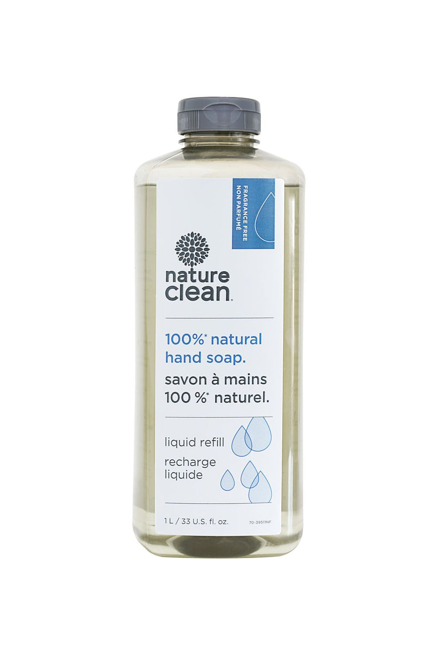 Nature Clean 100% Natural Unscented Hand Wash Refill
