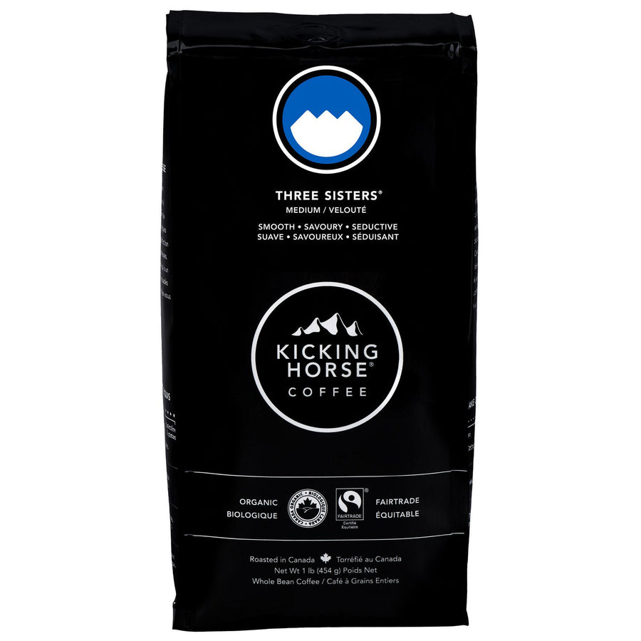 Kicking Horse Three Sisters Organic Whole Bean Coffee