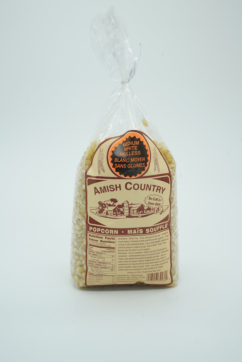 Amish Country Medium White Hulless Popcorn