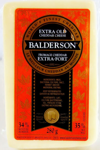 BALDERSON - EXTRA OLD CHEDDAR CHEESE