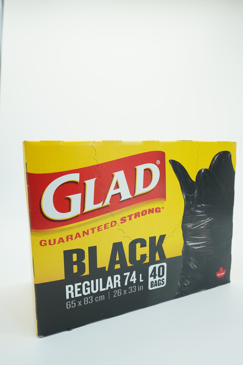 Glad Regular Strong Black Bags