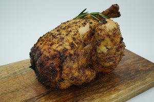 Greek spiced whole rotisserie chicken