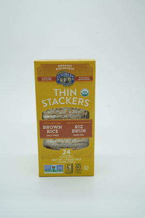 Lundberg Brown Rice Thin Stackers Salt Free