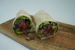 New York Strip Loin Spicy Steak Wrap