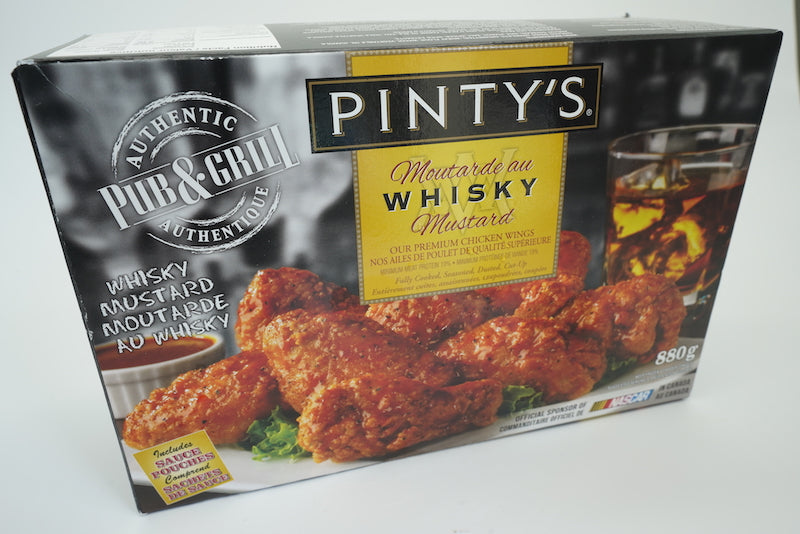 Pinty's Whisky Mustard BBQ Chicken Wings