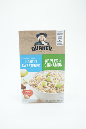 Quaker Lightly Sweetened Apple & Cinnamon Instant Oatmeal