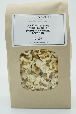 Our Fresh Popping Truffle Oil and Parmesan Cheese Popcorn