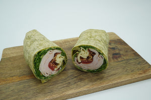 Turkey bacon Swiss cheese wrap