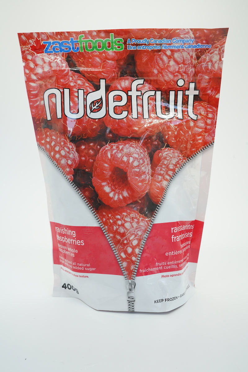 Zast Foods Nude Fruit Frozen Raspberries