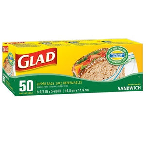 Glad Zipper Sandwich Bags