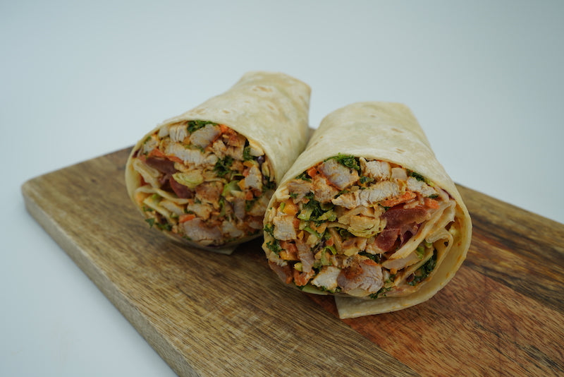 Korean spiced chicken wrap